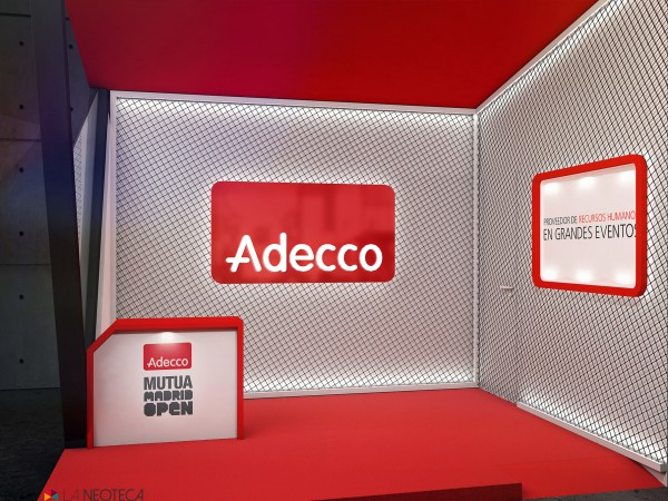 Stand Adecco Madrid Open web laneoteca