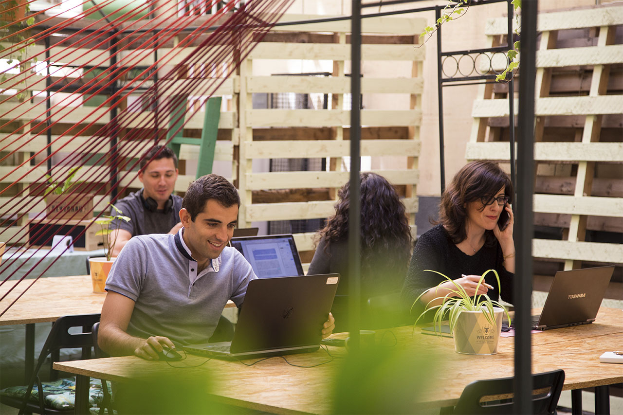 Terraza The Shed Coworking